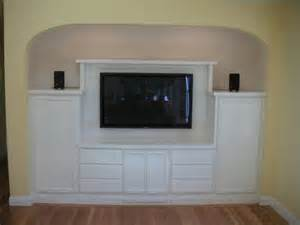 lcd tv cabinet in former closet