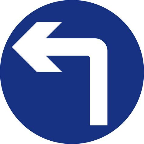 only 4 spaces left file mauritius road signs mandatory sign left turn