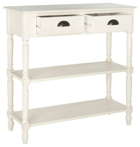 White Console Table With Storage by Safavieh Salem Console Table With Storage White Console