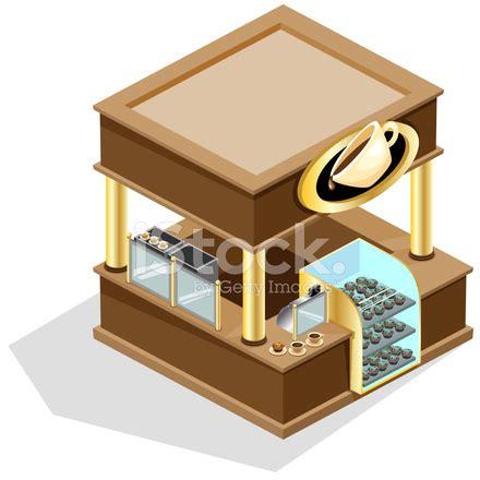 isometric coffee kiosk stock vector freeimages.com