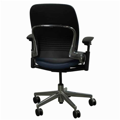 Leap Chair By Steelcase by Steelcase Used Leap V2 Leather Task Chair Navy National