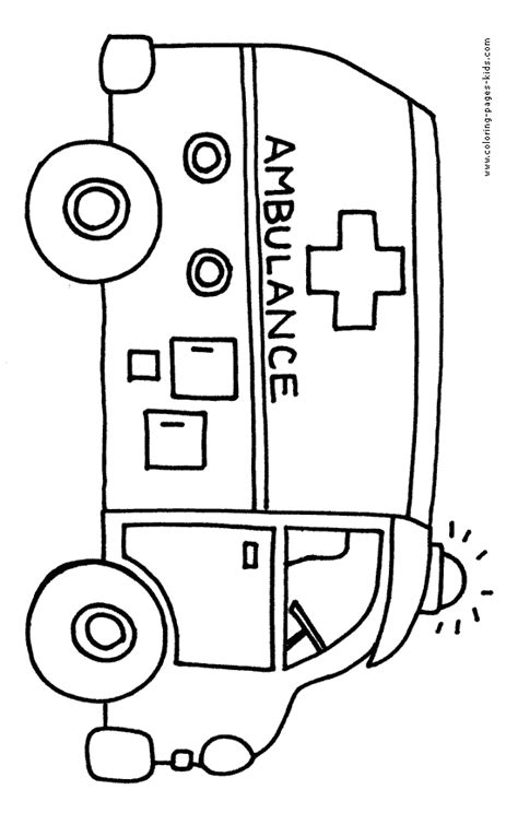 coloring page of an ambulance printable coloring page of ambulance