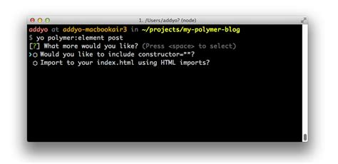 tutorial web components building web apps with yeoman and polymer scaffold your