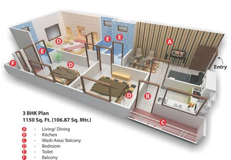 3 bhk home design layout 3 bhk plan