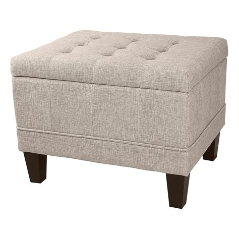 Tufted Upholstered Ottoman Donnieann Dorothy Tufted Upholstered Storage Ottoman Beige Home Furniture Living Room
