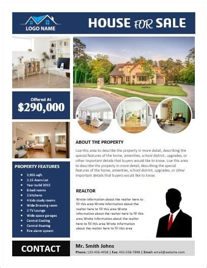 Ms Word House For Sale Flyer With Pictures Office Templates Online For Sale By Owner Flyer Template Word