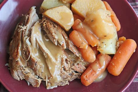 crock pot pork roast with vegetables and gravy renewed
