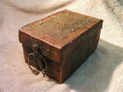 tecnicas para decorar cajas de carton diy caja imitacion de cuero reciclada imitation leather