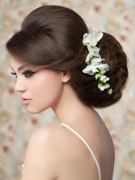 pictures wedding hairstyles  long hair oversized bridal updo  side bangs