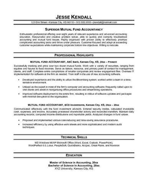 accountant objective for resume accounting resume objective