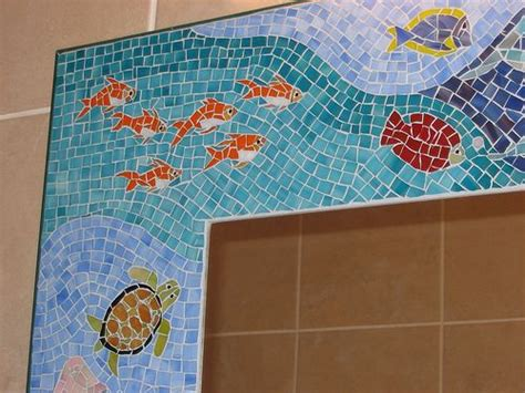 bathroom mosaic mirror bathroom mosaic mirror quot sea life quot under the sea pinterest