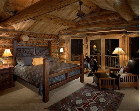 Bedroom Decorating Ideas For Log Homes Gorgeous Cabin Bedroom Interior Design