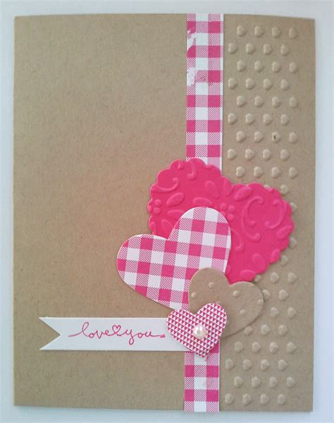 Handmade Valentines Card - handmade s day card using negative space