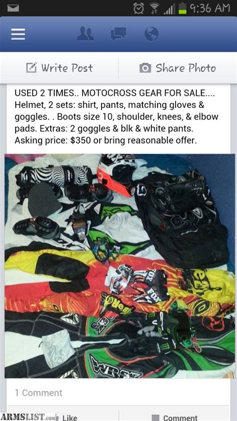 used motocross gear for sale armslist for sale fox motocross gear
