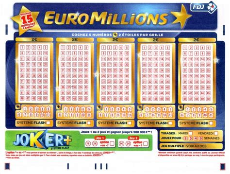 Euromillion Grille Gain by Tarif Des Tickets De Loto Euromillions Loto Foot Fdj