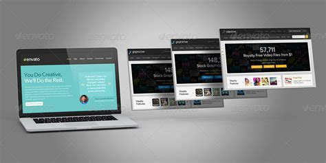 tutorial website mockup laptop and website mock ups by themedia graphicriver