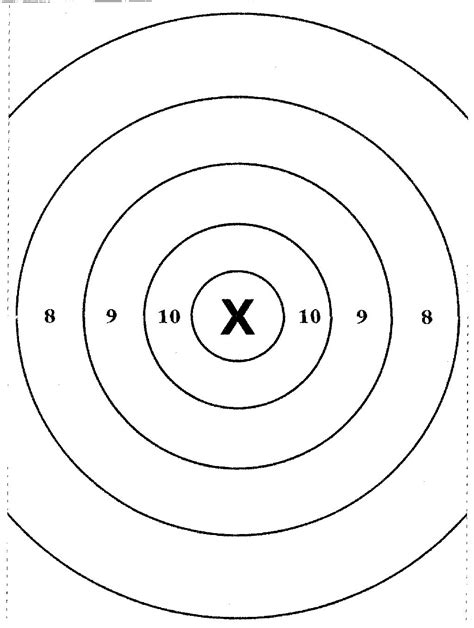 printable large rifle targets 8 x 11 printable target pictures to pin on pinterest