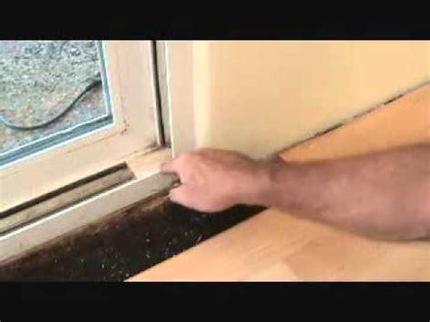 Patio Door Stop How To Install A Laminate Hardwood Floor Cutting Around A