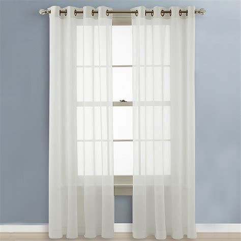 63 inch length curtains nicetown sheer curtain panels grommet voile curtains for