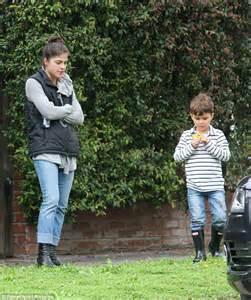 good start comfort selma blair finds comfort in parenting son arthur in la