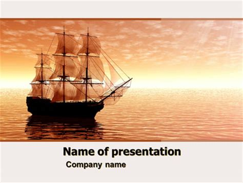 powerpoint themes ships sailing ship presentation template for powerpoint and
