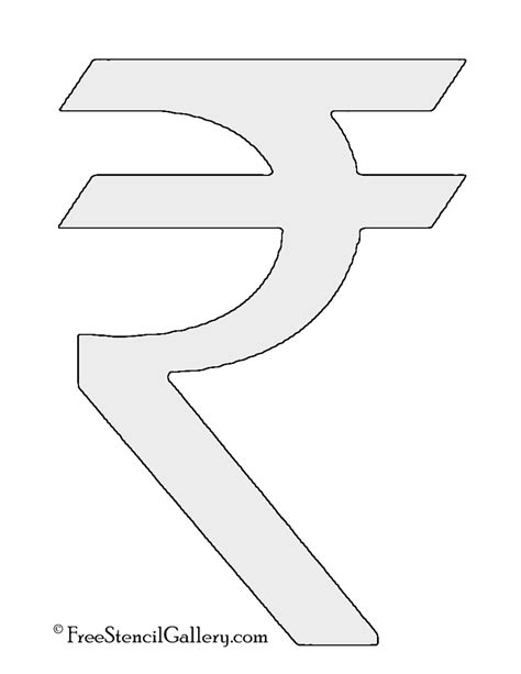 symbol template indian rupee symbol stencil free stencil gallery