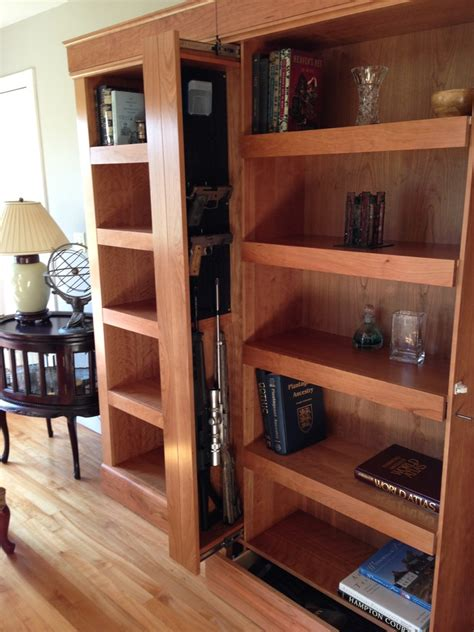Bookcase Gun Cabinet Hiding Guns Where To Stash Firearms Without A Safe