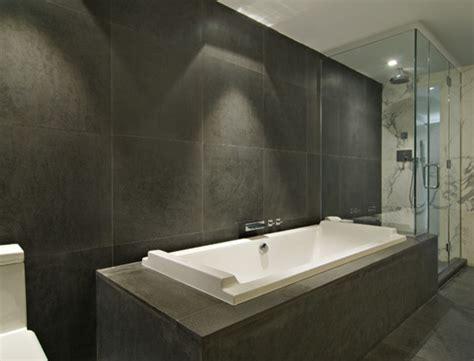 dark grey tiles bathroom 92 warren condos modern bathroom