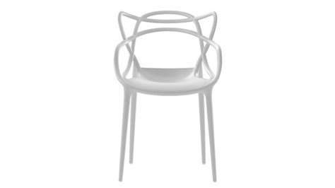 le starck kartell chaise master blanche polypropylene teinte kartell