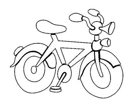 imagenes para colorear bicicleta dibujo de bicicleta con bocina para colorear dibujos net