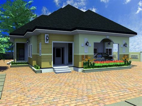 3d Bungalow House Plans 4 Bedroom 4 Bedroom Bungalow House 4 Bedroom Bungalow Architectural Design