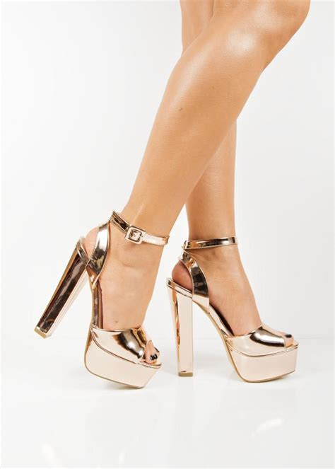 metallic gold high heels 8661 gold metallic platform high heels