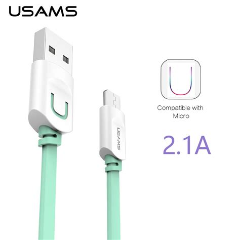 Usams Micro Usb Cable 1m Kabel Data Terjamin Kualitasnya aliexpress buy usams micro usb cable 2 1a 1m fast