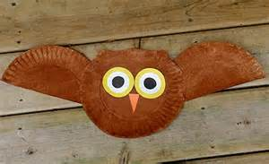 Halloween Toddler Craft - paper plate owl fun family crafts