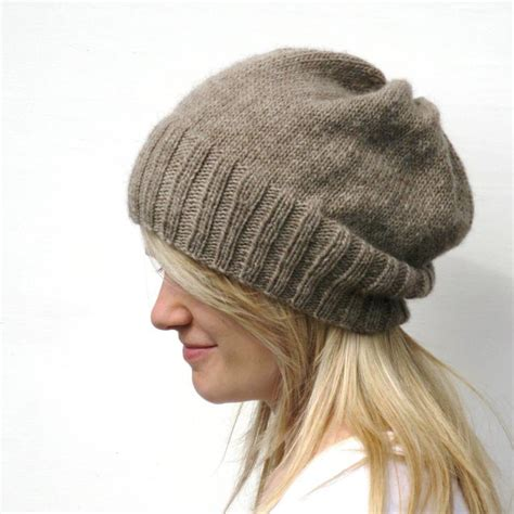knitting hat patterns you to see dk eco slouchy hat knitting pattern by