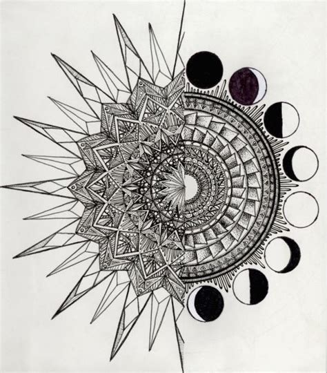 sun and moon mandala tattoo best 25 moon mandala ideas on moon tattoos