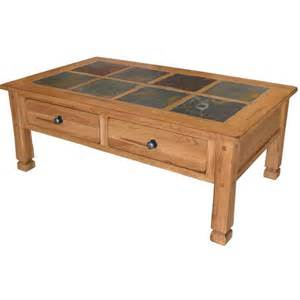 Slate Top Coffee Table Rustic Oak Slate Collection Rustic Oakslate Top Table Set 3143ro