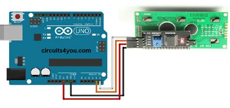 arduino uno i2c lcd tutorial lcd interface using i2c module with arduino circuits4you com