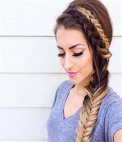 5 double fishtail braids braid love pinterest teen 728 beste afbeeldingen over braids top knots updos fun