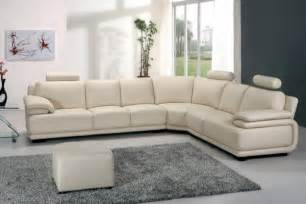 Off White Leather Sofas Modern Off White Leather Sectional Sofa With Adjustable