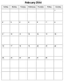monthly calendar printable | monthly printable calendar