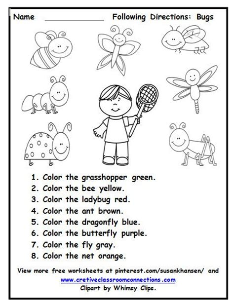 Listening Skills Worksheets For Kindergarten by 231 Best Images About Free Worksheets On On