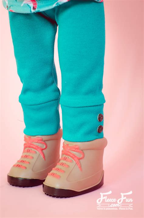 leggings pattern for 18 doll cuffed doll leggings free pattern and tutorial fleece fun