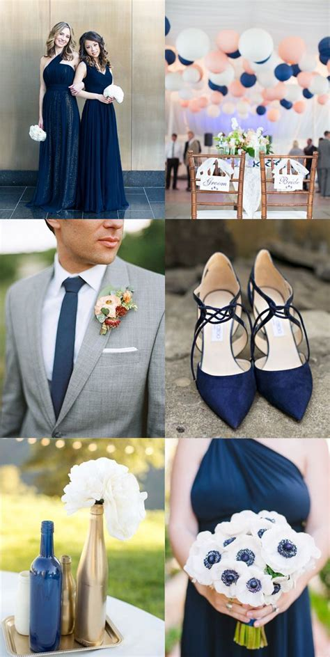 Navy blue inspiration board! Navy bridesmaid dresses