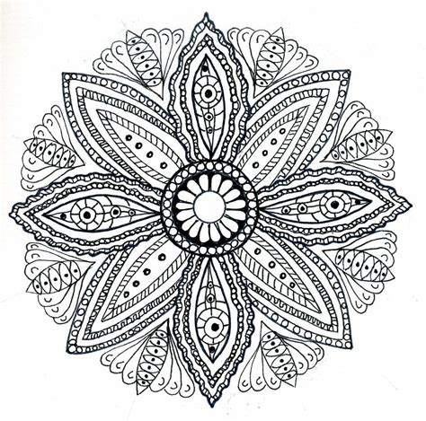 coloring pages designs mandala dots n doodles mandala