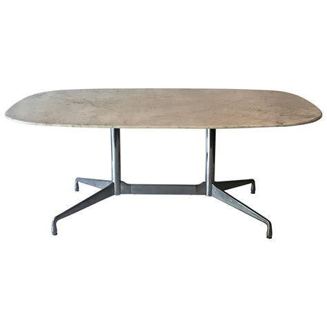 Eames Dining Table Eames For Herman Miller White Marble Dining Conference Table For Sale At 1stdibs