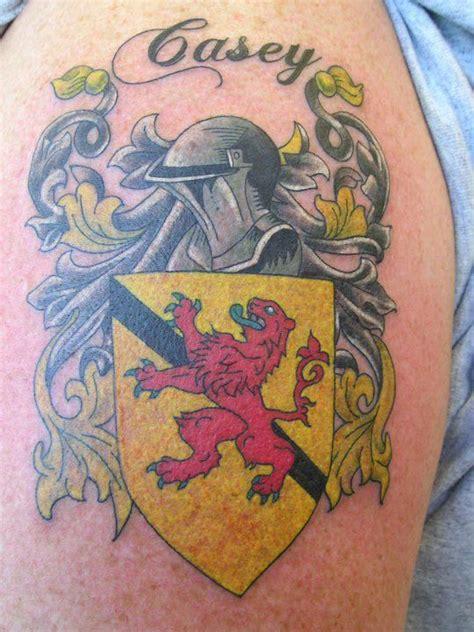 tattoo tulsa jake tulsa co coat of arms shield helmet