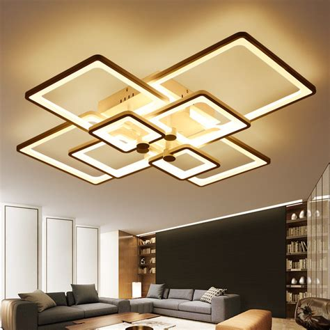 Ceiling Lights Designer Aliexpress Buy New Square Rings Designer Modern Led Ceiling Lights L For Living Room
