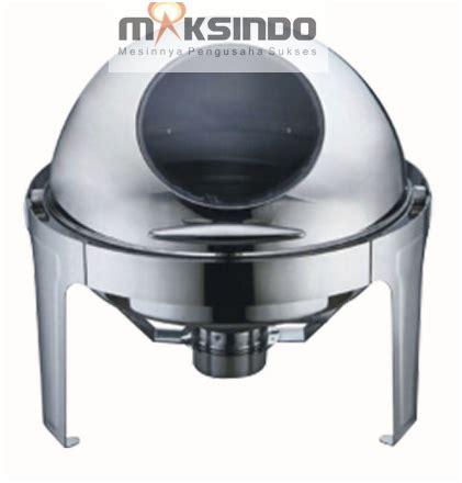 6 8ltr Rolltop Sunnex Bulat Chafing Dish Prasmanan Pemanas Makanan jual chafing dish bentuk bulat roll 6 liter di