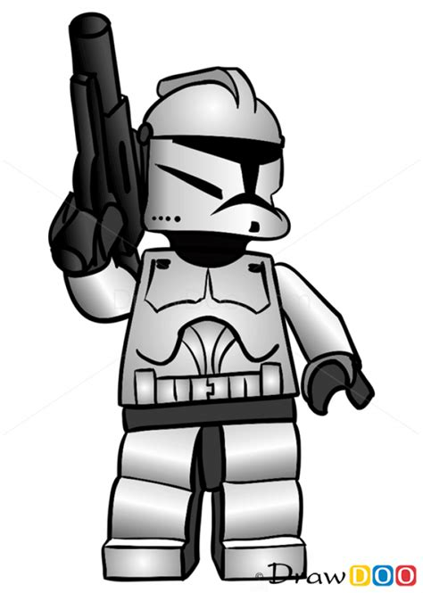 lego star wars stormtrooper coloring page how to draw clone trooper lego starwars
